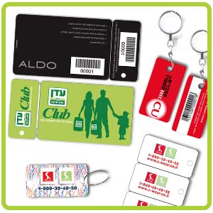 כרטיסי פלסטיק שונים
