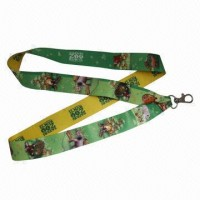 Heat Transfer Printed Lanyard with a Clip